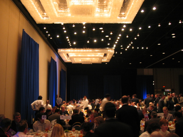 Back corner of the award ceremony for 2005 Fast Tech 50 luncheon
