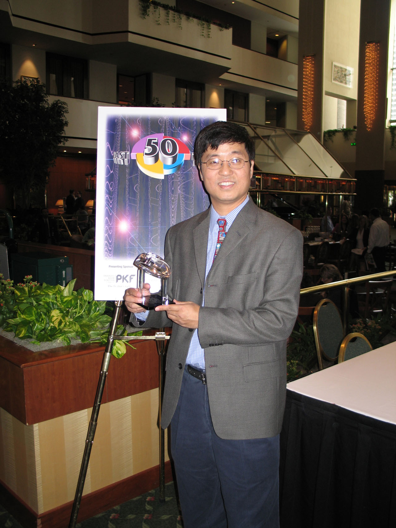 Michael Chang received the Fast Tech 50 award on behalf of Directron.com